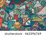 patchwork pattern. vintage... | Shutterstock .eps vector #463396769
