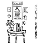 sweet home. vector illustration ...   Shutterstock .eps vector #463398611