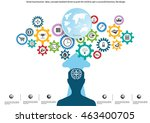 vector businessman ideas ... | Shutterstock .eps vector #463400705
