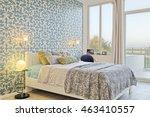 modern bedroom    interior... | Shutterstock . vector #463410557