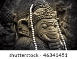 closeup of indian ganesha figure - stock photo