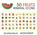 set of 50 minimalistic solid... | Shutterstock .eps vector #463424069