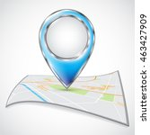 location icons on the map.... | Shutterstock .eps vector #463427909