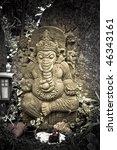 indian ganesha goddess figure - stock photo