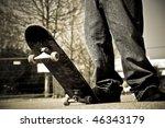 skater legs | Shutterstock . vector #46343179