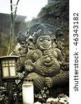 ganesha goddess figure - stock photo