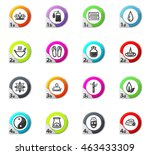 spa web icons for user... | Shutterstock .eps vector #463433309