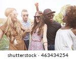 group of friends dancing... | Shutterstock . vector #463434254