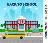 education concept. school... | Shutterstock .eps vector #463435115