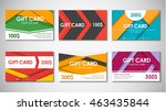 set of gift cards of values.... | Shutterstock .eps vector #463435844