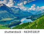 the engadine valley in... | Shutterstock . vector #463451819