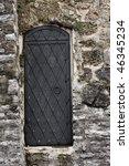 door in the fortress wall of... | Shutterstock . vector #46345234
