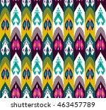 ethnic seamless pattern with... | Shutterstock .eps vector #463457789