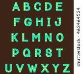 alphabet from multicolored... | Shutterstock .eps vector #463464524