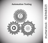 concept of automation testing ...   Shutterstock .eps vector #463468325