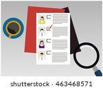 checklist vector   Shutterstock .eps vector #463468571