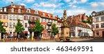 the kornmarkt square in... | Shutterstock . vector #463469591