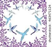 swallow   vector illustration   Shutterstock .eps vector #463471124