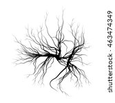 human veins  red blood vessels... | Shutterstock .eps vector #463474349