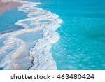 texture of dead sea. salty sea... | Shutterstock . vector #463480424