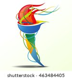 icon sport torch with colorful... | Shutterstock .eps vector #463484405