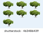 seven three in the soft blue... | Shutterstock . vector #463486439