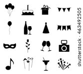set of party icons  vector... | Shutterstock .eps vector #463492505