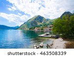 fishing village in the bay of... | Shutterstock . vector #463508339