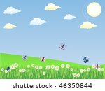 spring landscape with...   Shutterstock .eps vector #46350844