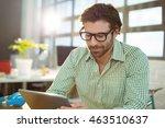 graphic designer using digital... | Shutterstock . vector #463510637