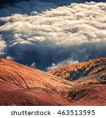 Foggy Mountain Hills In The...