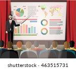 businessman in suit and tie...   Shutterstock .eps vector #463515731