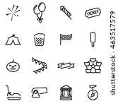vector line carnival icon set... | Shutterstock .eps vector #463517579