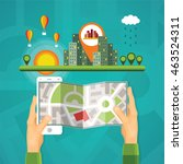 gps maps and navigation bitmap... | Shutterstock . vector #463524311