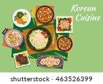 korean cuisine beef bulgogi... | Shutterstock .eps vector #463526399