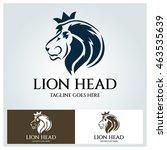 Lion Head Logo Vector Design...