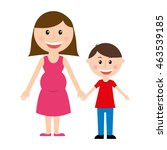 mother silhouette figure... | Shutterstock .eps vector #463539185