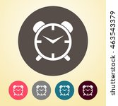 alarm clock icon in round shape. | Shutterstock .eps vector #463543379