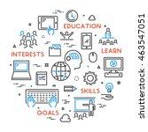 vector line concept for online... | Shutterstock .eps vector #463547051