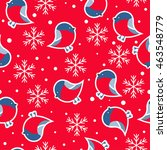 seamless pattern. new year's... | Shutterstock .eps vector #463548779