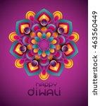 indian rangoli   a traditional... | Shutterstock .eps vector #463560449