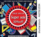 multicolored banner. marketing... | Shutterstock .eps vector #463561034