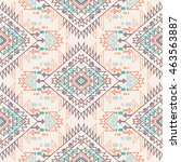 pastel multicolor tribal navajo ... | Shutterstock .eps vector #463563887