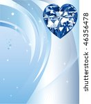 Beautiful Abstract Heart Diamond with background - stock vector
