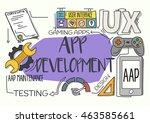 app development concept | Shutterstock .eps vector #463585661