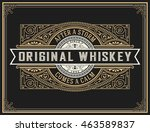 old whiskey label. | Shutterstock .eps vector #463589837