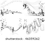 musical notes staff backgrounds ... | Shutterstock . vector #46359262