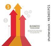 arrow growth coins business... | Shutterstock .eps vector #463601921