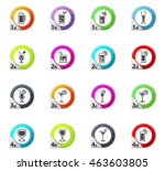 glasses and cups web icons for... | Shutterstock .eps vector #463603805