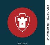 web line icon. shield. | Shutterstock .eps vector #463607285